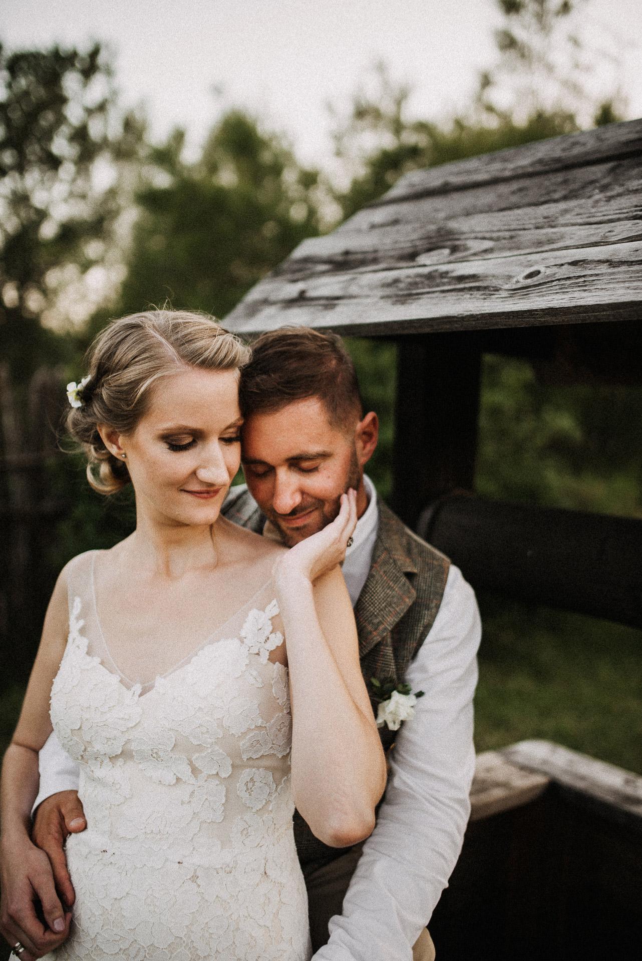 intimate bride groom