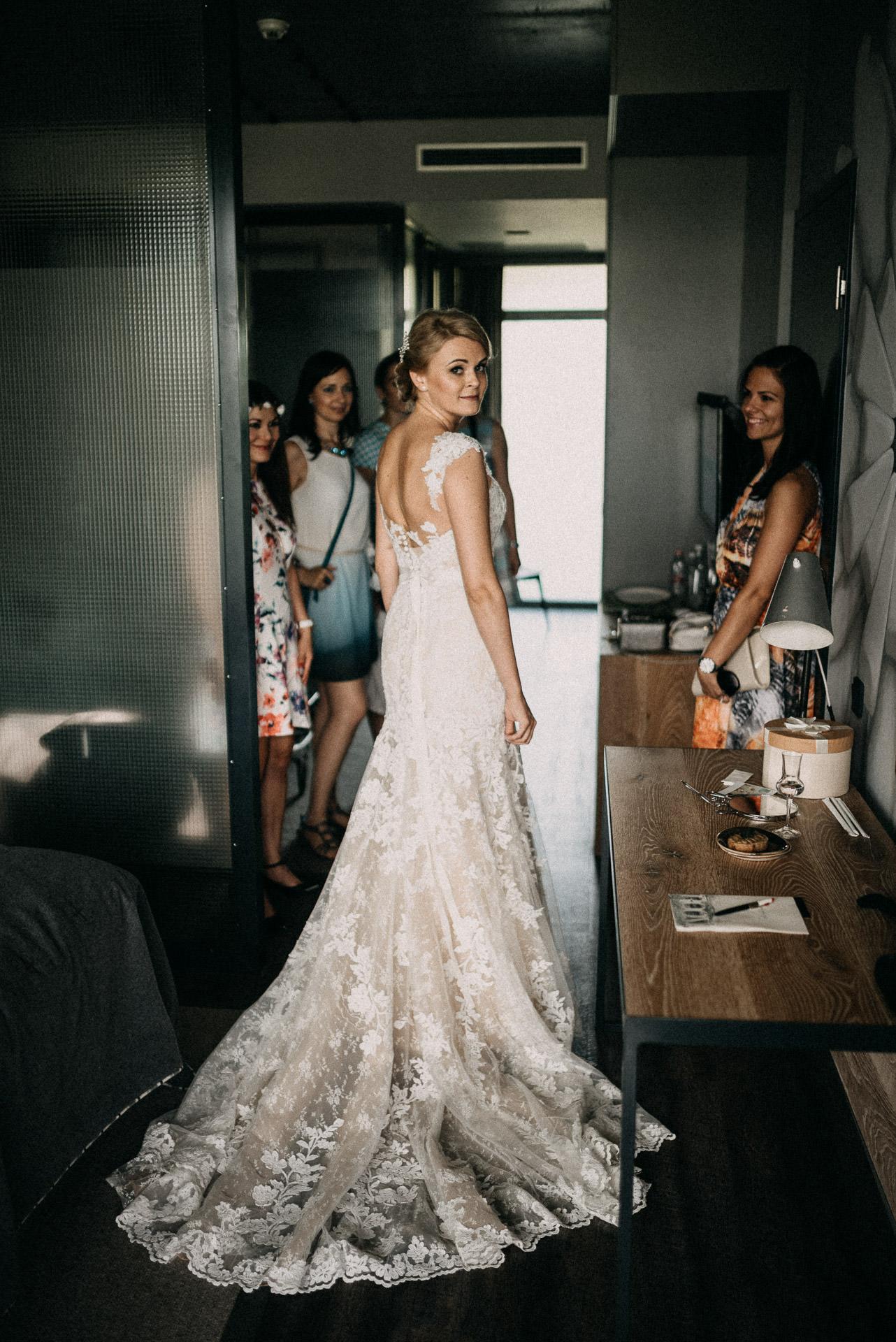 wedding dress bride bridesmaids