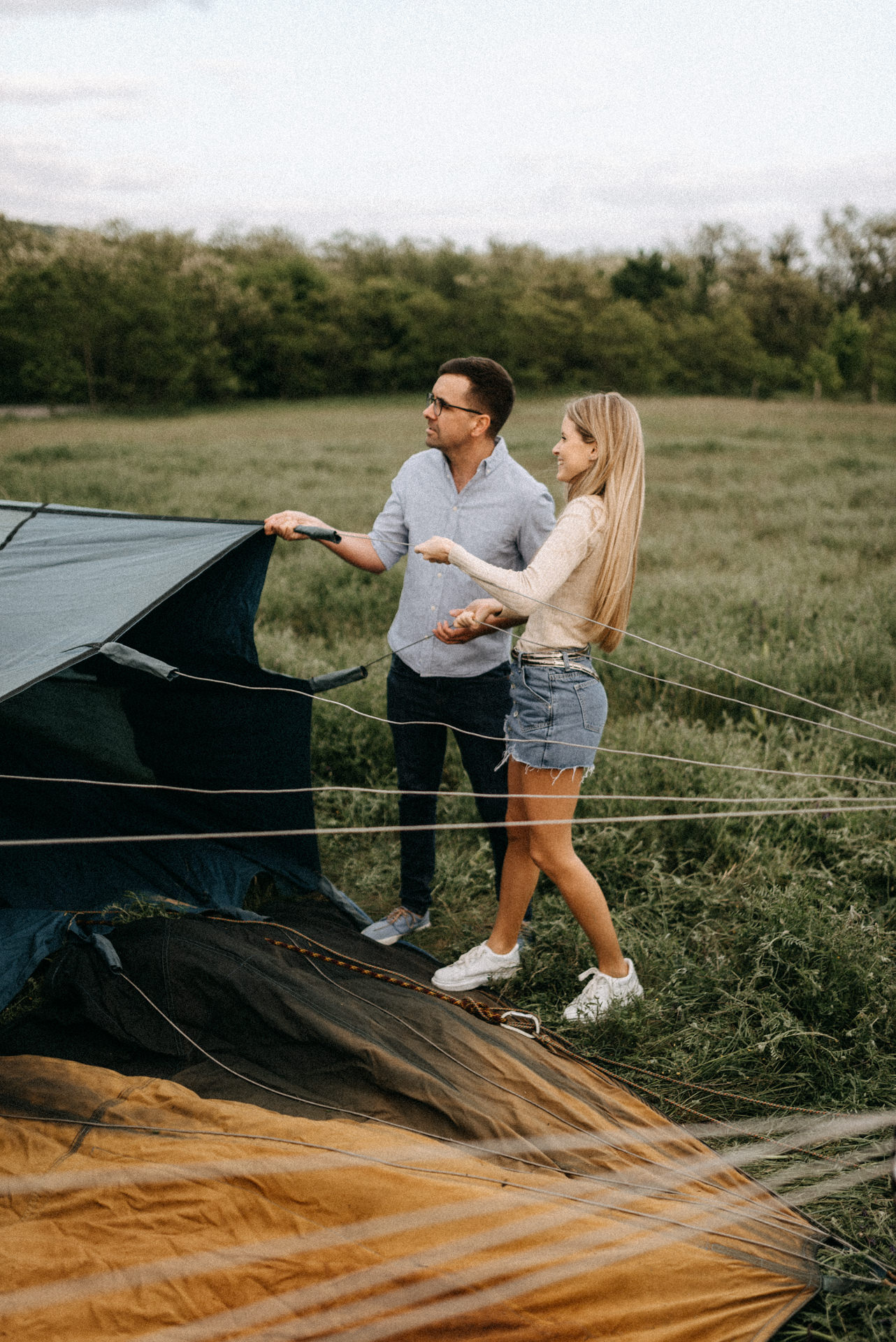 engagement session air baloon