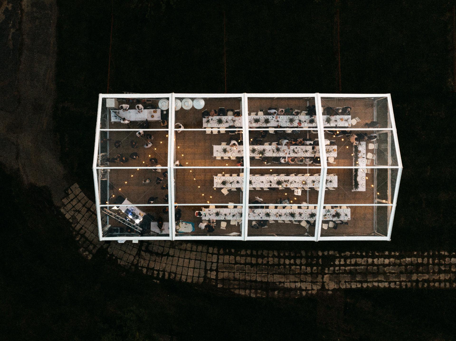 drone venue shot dron tent sator eskuvo